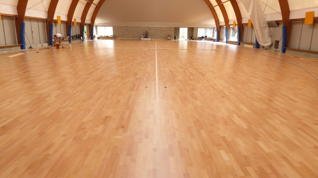Agil Volley Trecate, the finished wooden sports flooring