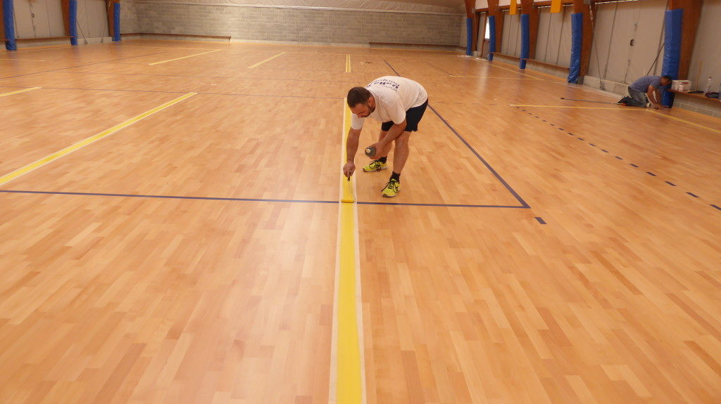 The timing of the new markings for the Trecate sports facility that will host games and workouts of Agil Volleyball