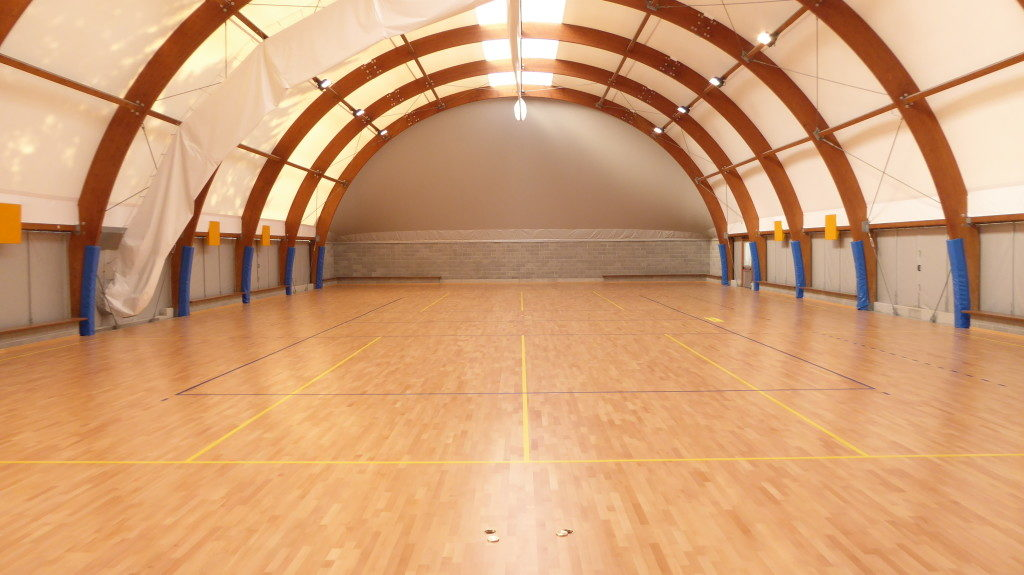 On the new sports parquet of Agil Volley Trecate, besides the main rectangle, were tracked other two transverse fields