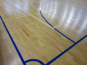 "New markings to the gym of ""Fauser"" in Novara"