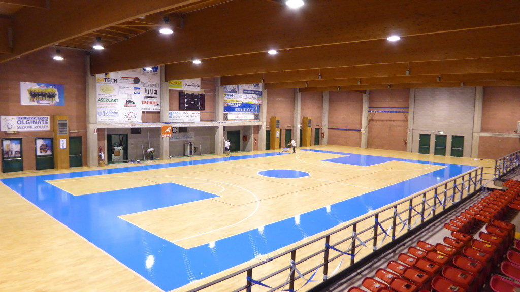 The sports floor installed by Dalla Riva Sportfloors in Olginate has a total area of 1200 square meters