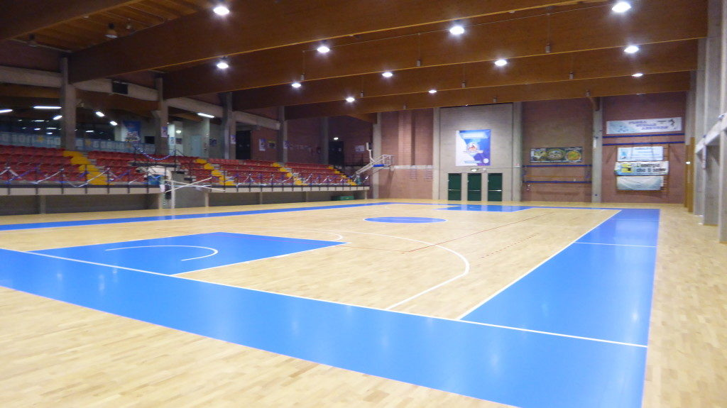Sports flooring hevea solid wood, among the most reliable in the range Dalla Riva Sportfloors