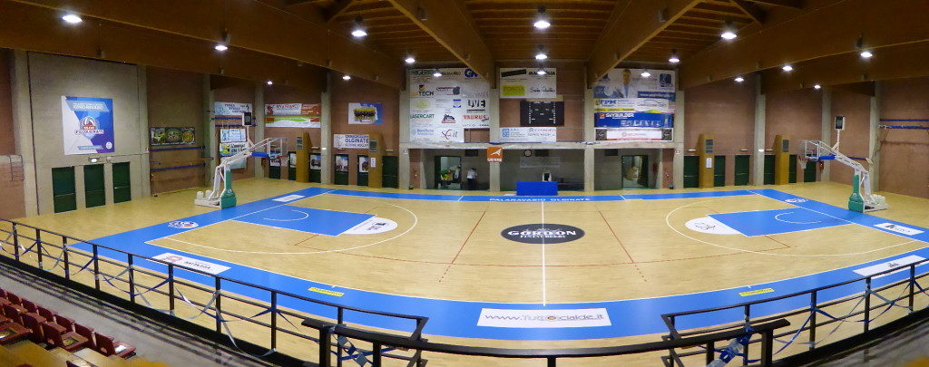 An image of the new sports parquet signed DR and for the New Basketball Olginate