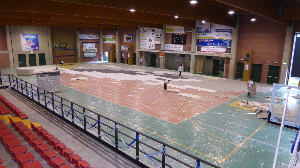 Begin the installation steps of the new sports parquet Dalla Riva Sportfloors