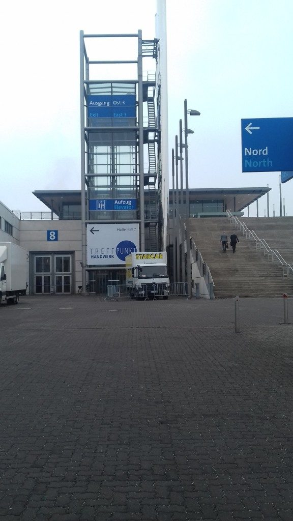 """The entrance of """"Domotex 2017"""""""