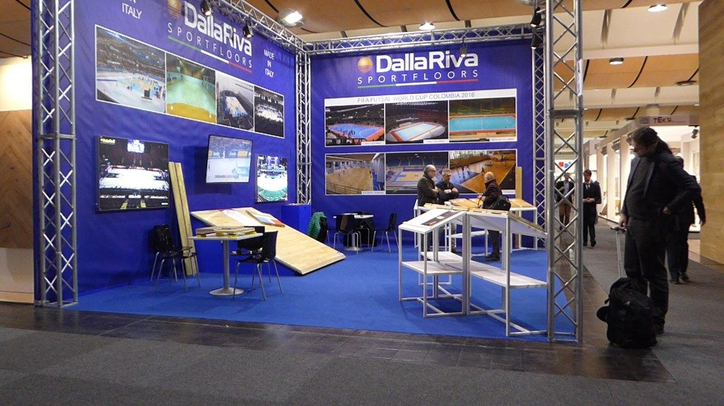 At Domotex 2017 Dalla Riva Sportfloors was hosted in the hall number 8