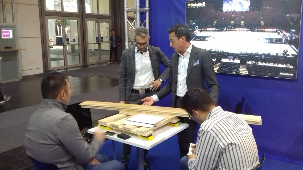 Other guests visiting the stand Dalla Riva Sportfloors in Germany