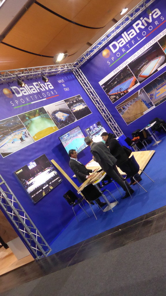 The stand of Dalla Riva Sportfloors in Hannover has received hundreds of industry experts visits from around the world