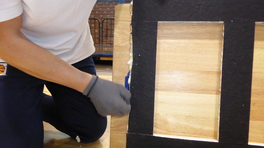 One particular of the new removable parquet Dalla Riva Sportfloors now supplied in Cremona