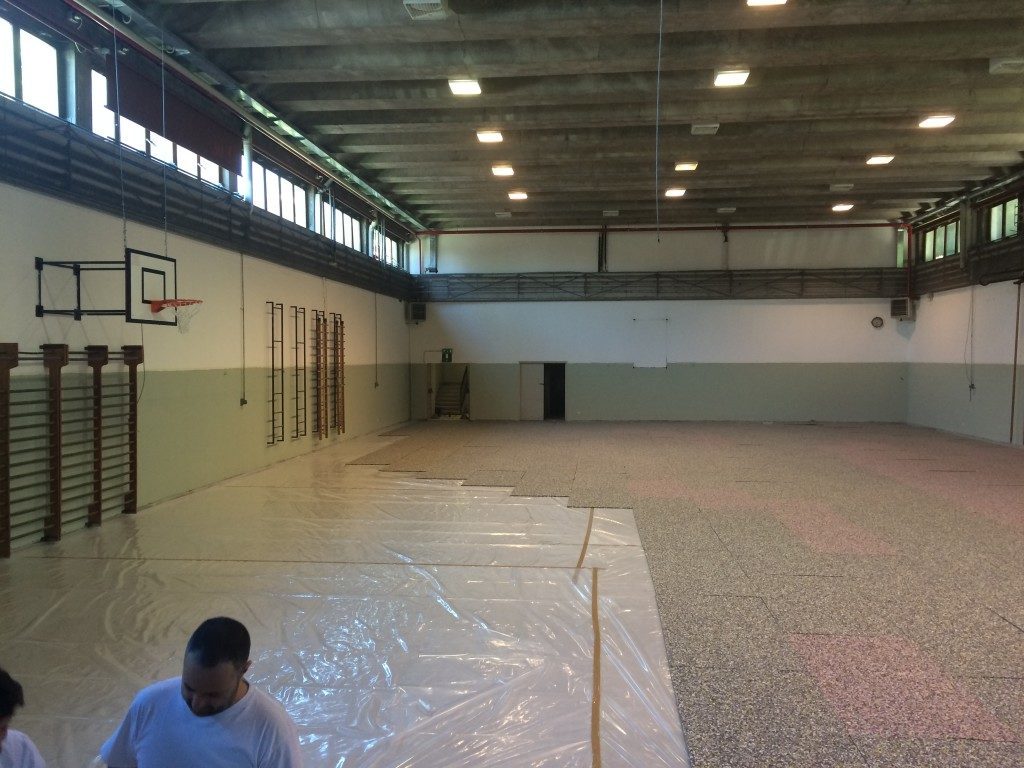 After a sports flooring already installed in the same institution of Lecco the DR brand is preparing a new installation