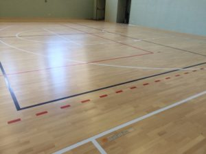 Sports parquet Dalla Riva Sportfloors completed with the new markings