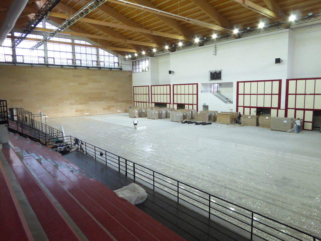 The PalaOreto like PalaMangano of Palermo was built with the funds of the Universiade 1997