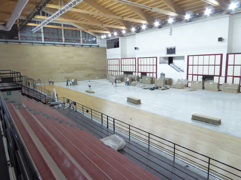 The PalaOreto adopted the same removable flooring system Dalla Riva of the Sports Palace dedicated to Massimo Mangano