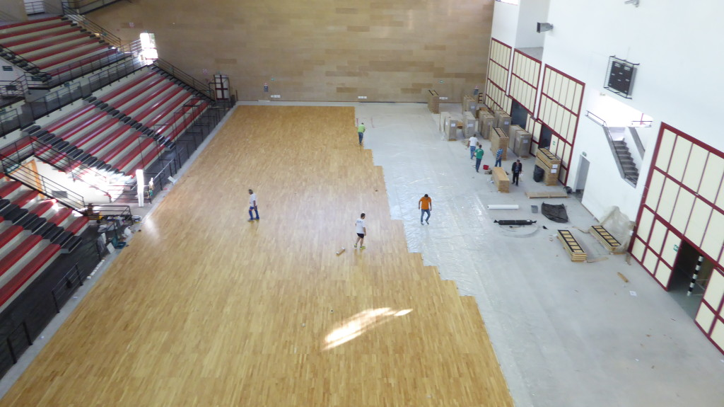 The Sports Flooring In Hevea Provided By Dalla Riva At Palaoreto Allows Its Users To Express