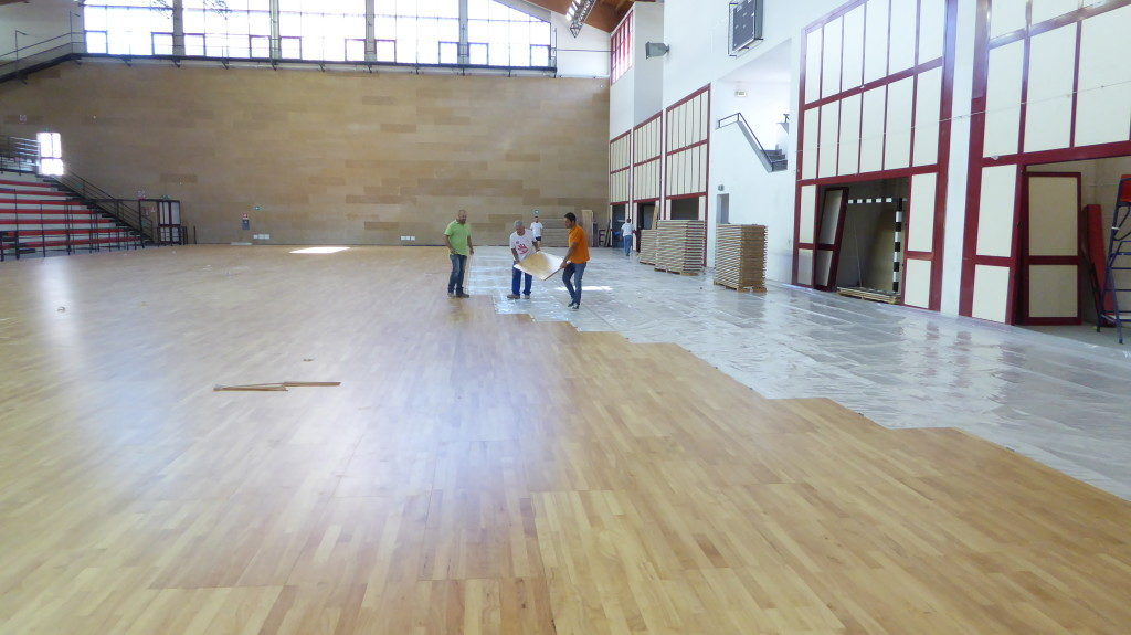 The assembled floor Made in Montebelluna toggles the sport to entertainment events such as concerts and shows