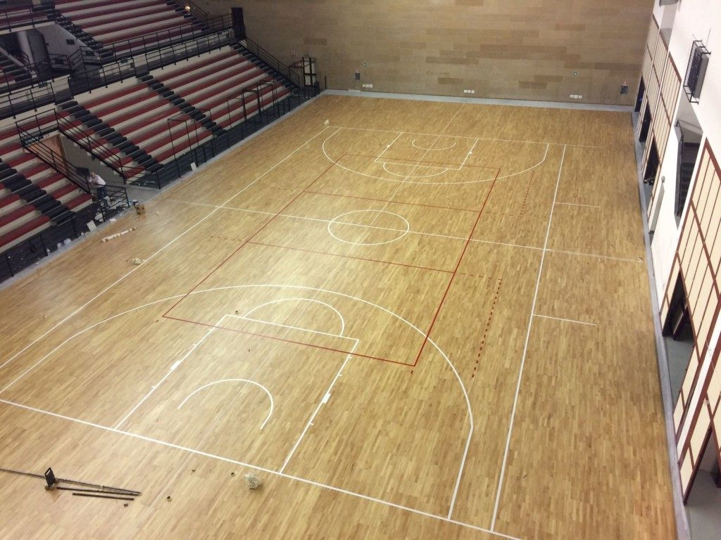 The removable parquet of PalaOreto is completed