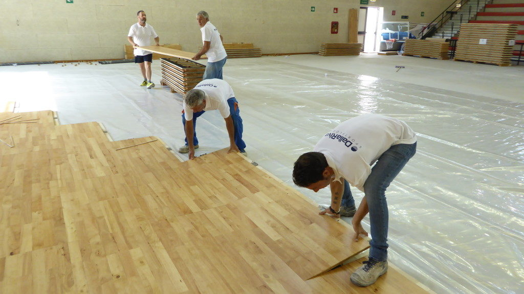 In Palermo In Sicily Two Removable Wooden Floors For A Total Of