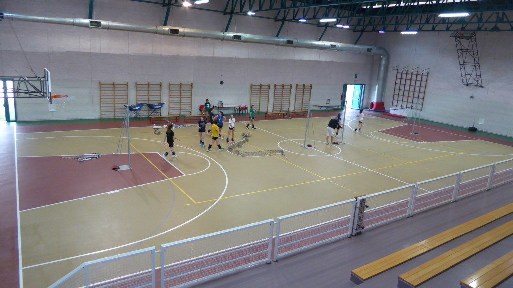 So it appeared the gym of Cinto before the intervention of Dalla Riva Sportfloors and Vittorio and Vittorio