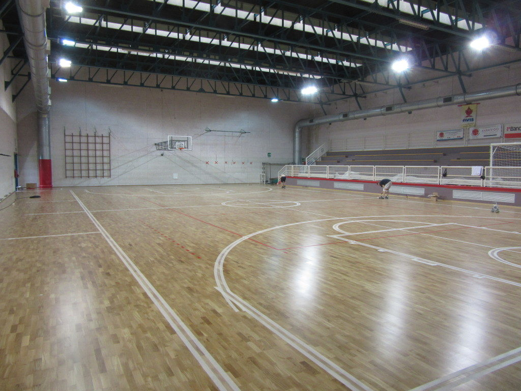 The Cinto gym has been equipped with a new sports oak flooring and new accessories