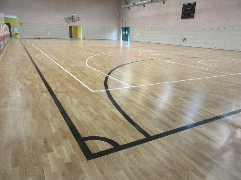 The entire area interested by the new DR sports flooring in the gym of Cinto is approximately 800 square meters