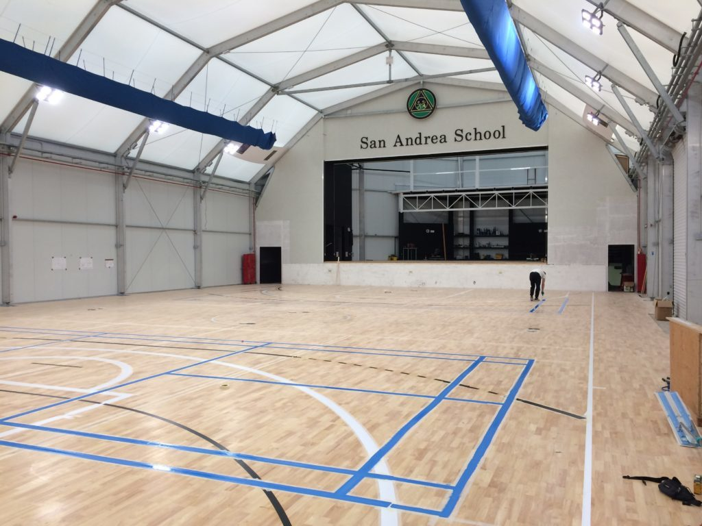 The entire project of installation of sports flooring to San Andrea School has involved about 800 square meters