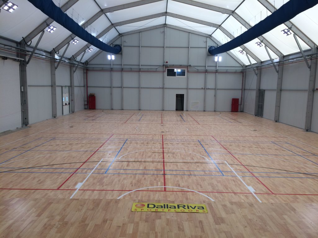 The new sports parquet Dalla Riva Sportfloors in the gymnasium of Malta is fully successful
