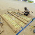 Repair phases of the sports court at the sports hall of Forte dei Marmi