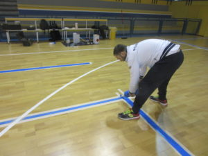 Game lines are performed by Dalla Riva in compliance of individual sports federations