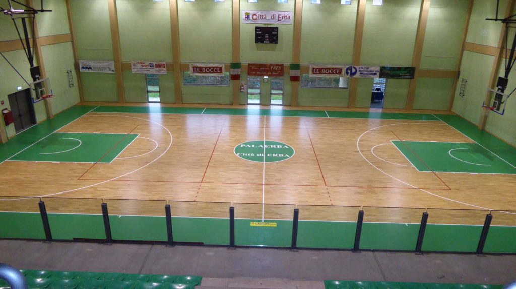 The signature Dalla Riva Sportfloors on the floor of another important  sports facility in Lombardy