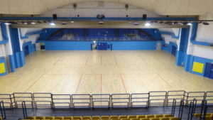 """For """"Le Cupole"""" of Turin, the municipal administration decided to draw two volleyball fields alongside"""