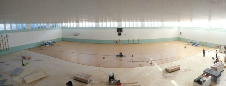 The new sports parquet of palasport in Erice is bigger than 1400 square meters
