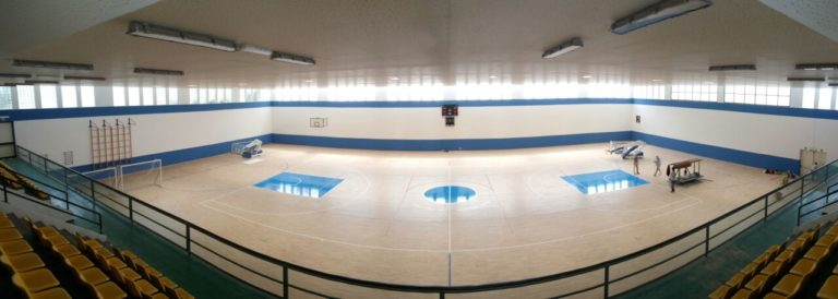 With the new sports parquet now, the PalaCardella can host international sport competitions