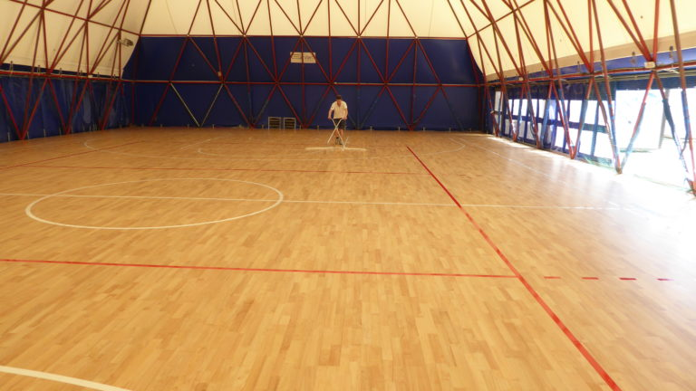 "Another sports parquet ""by the sea"" installed by Dalla Riva Sportfloors, many of them in Romagna"