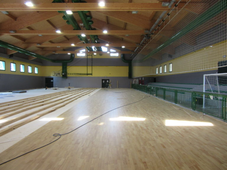 The new sports parquet Dalla Riva Sportfloors installed in Mestre is the 22 mm thick Playwood Rubber model