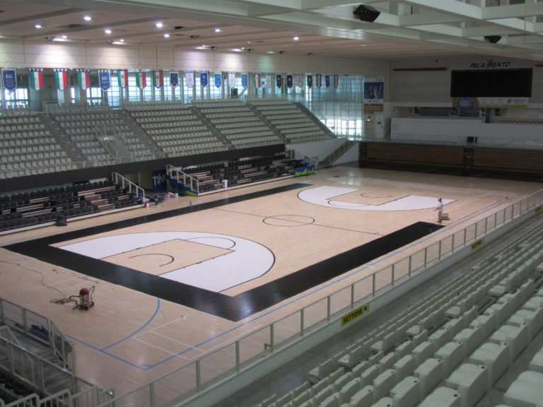 Black basketball tracks are a privilege for clubs that like Aquila Trento will play the EuroCup