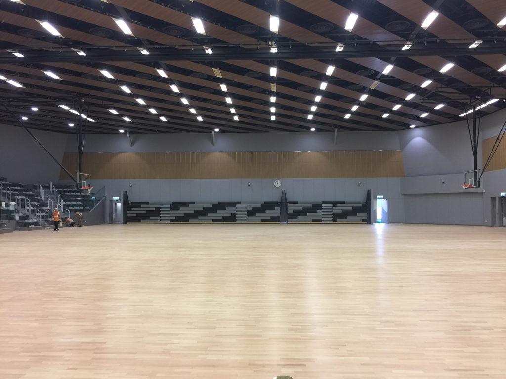 The gym at the University of Hong Kong needed a multifunctional, elastic flooring, suitable for high humidity variations but above all certified by FIBA