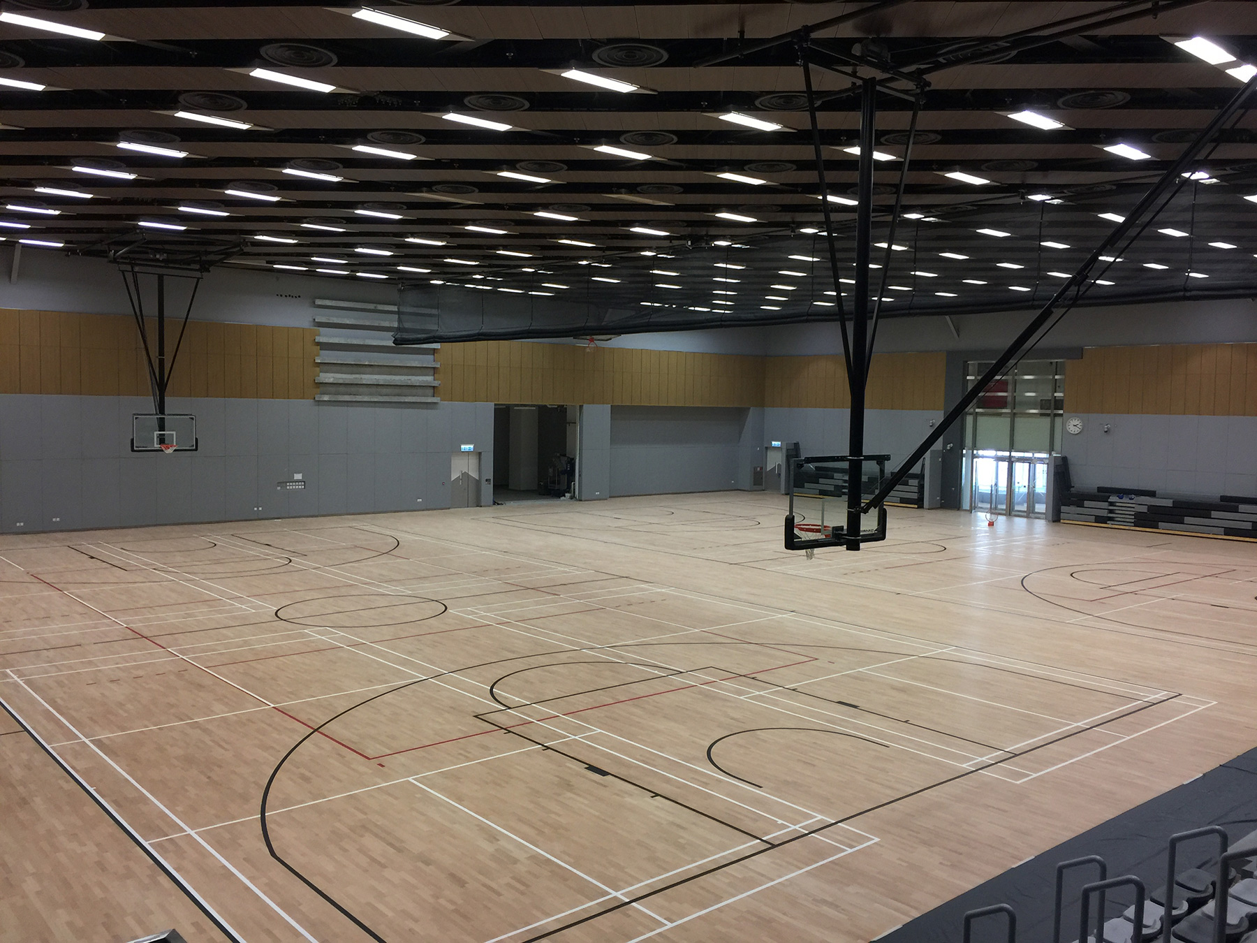 guide ceiling basketball indoor covering tiled floor flooring wooden apron court to and in white com colored impressive wall tips floors with hana