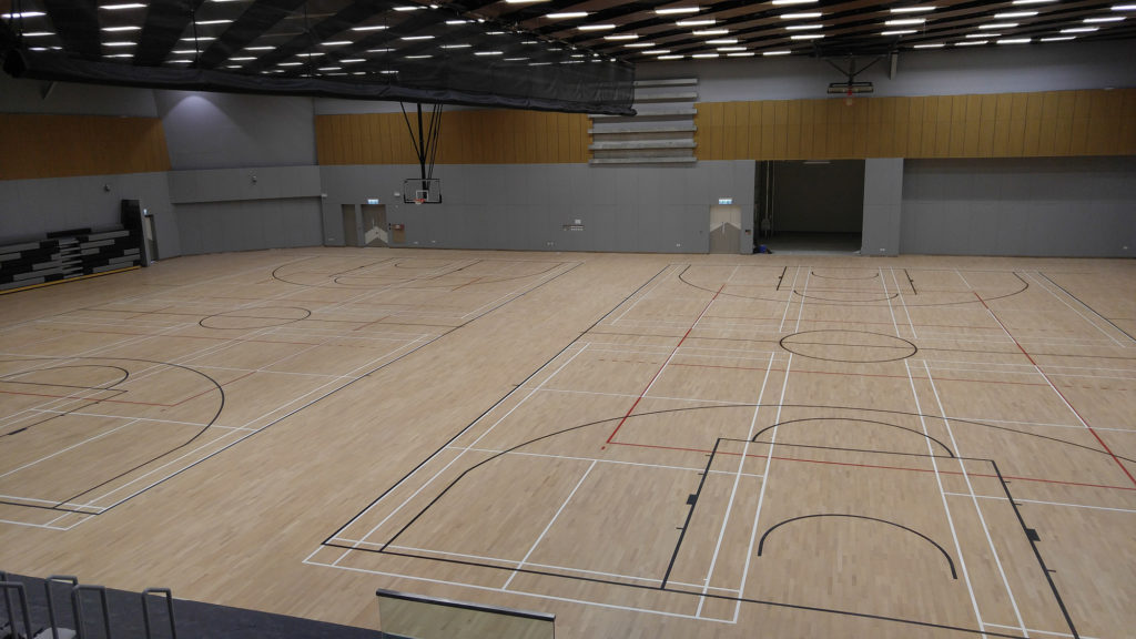 Finished the 3-layer FIBA sports flooring for gymnasium at the University of Hong Kong. Another jewel signed by Dalla Riva Sportfloors