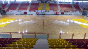 The new parquet Dalla Riva Sportfloors in oak for the Sports Hall of Bassano del Grappa