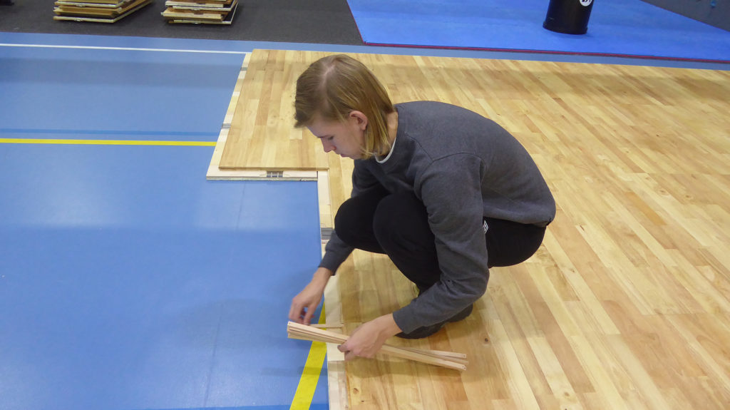 Removable floor for Finland's Futsal National Team