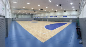 The new Playwood Removable S. parquet floor signed Dalla Riva Sportfloors and FIBA approved