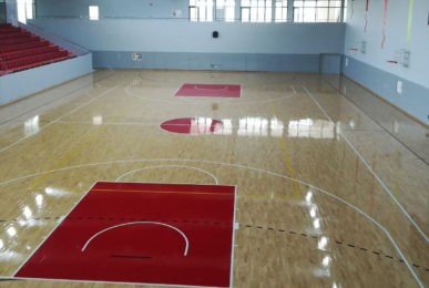 Dalla Riva Solid Jump System Sports Parquet for Nigde University Gym in Turkey