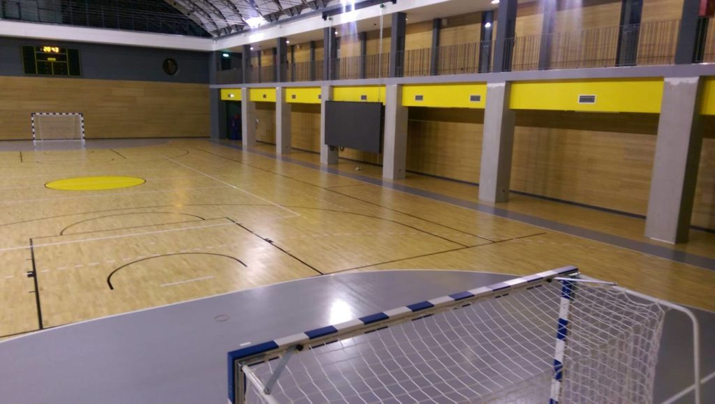 Here is the second FIBAapproved parquet in Albona