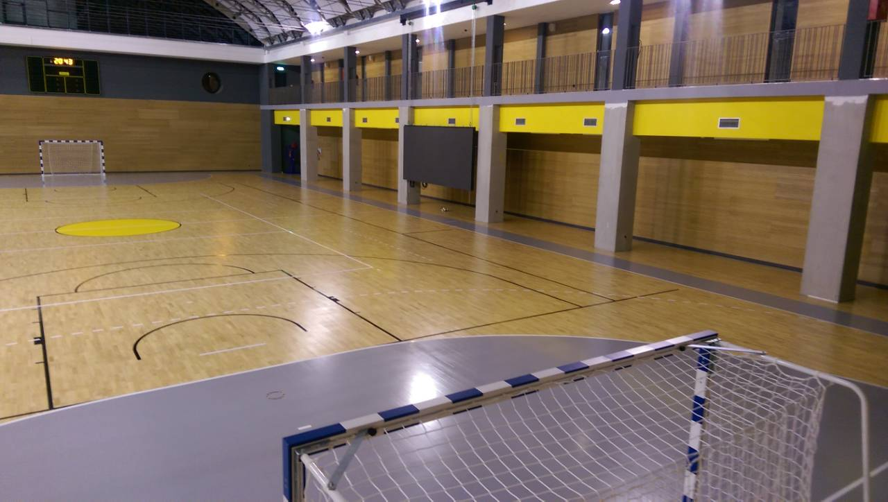 Croatia the second fiba approved sports parquet in albona for Sports flooring