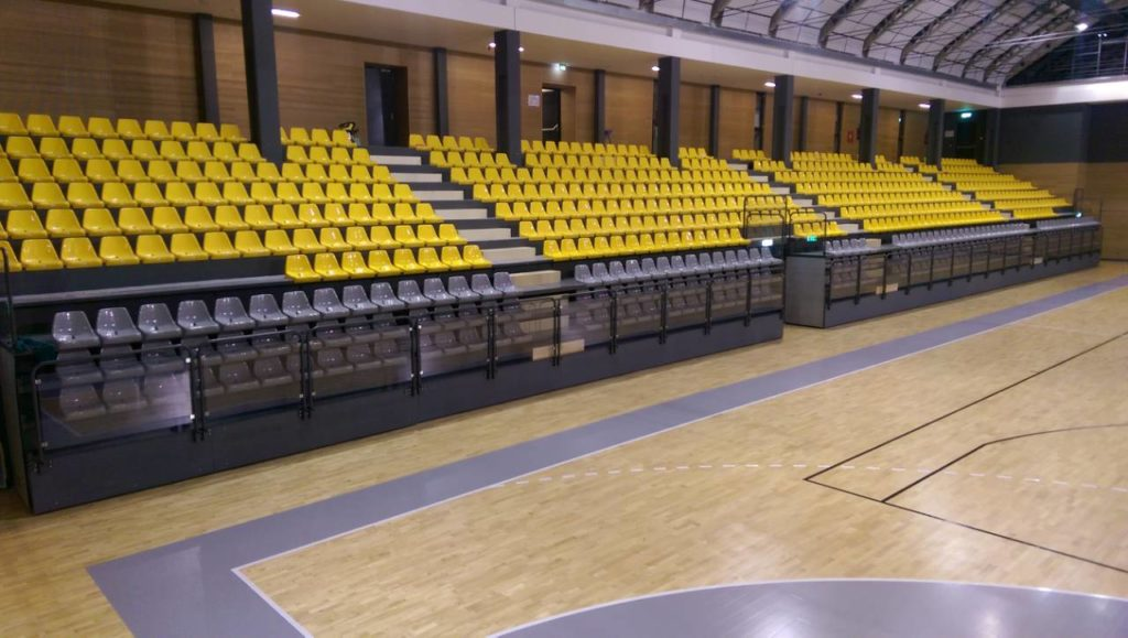 Sport stadium finished with completely new stands