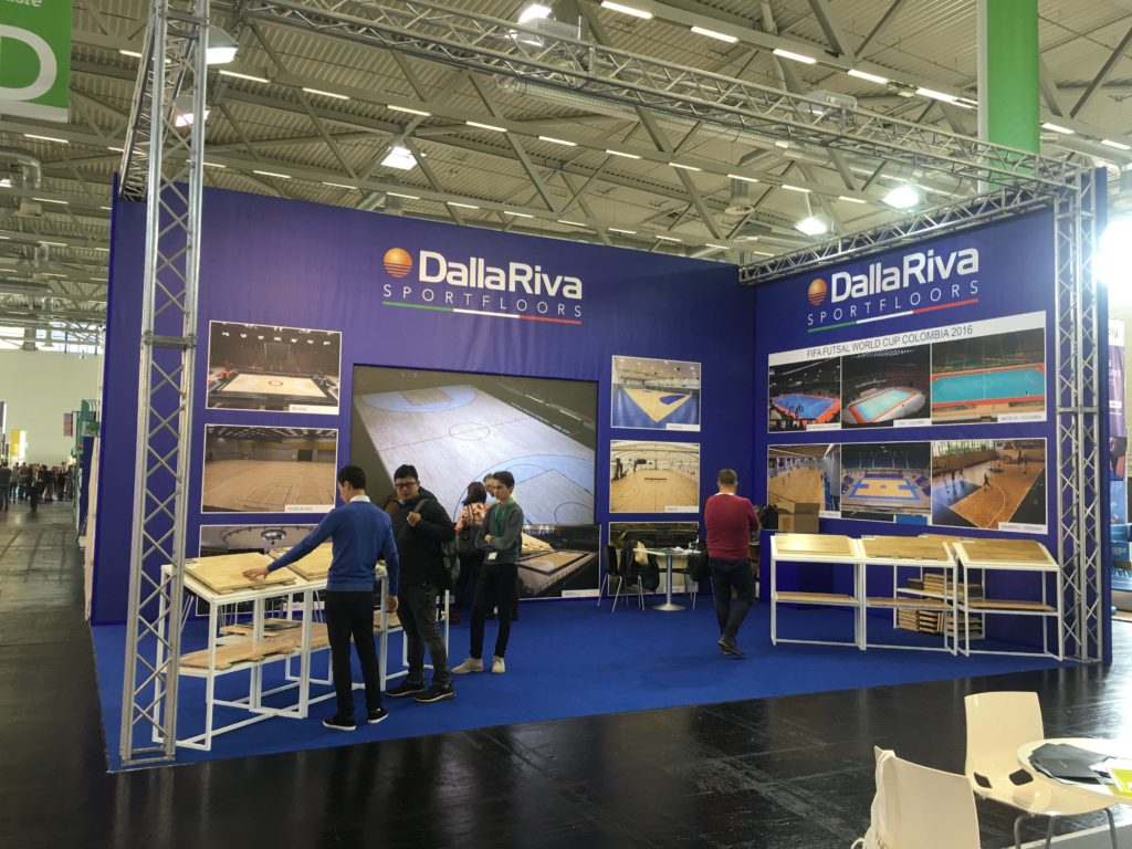 The new stand C-040 and D-041, which host Dalla Riva Sportsfloors