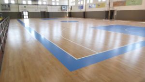 New FIBA approved floor for the newly promoted Dany Basket