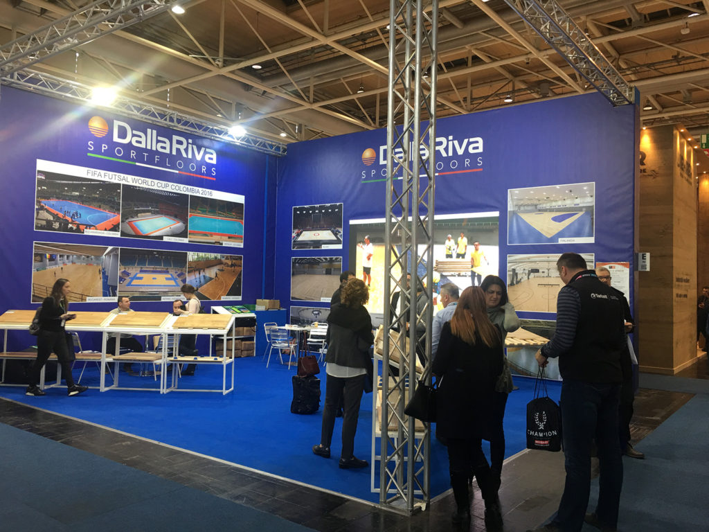 Images from the Stand Dalla Riva Sportsfloors