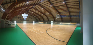 The parquet produced DR FIBA homologated is studied in detail
