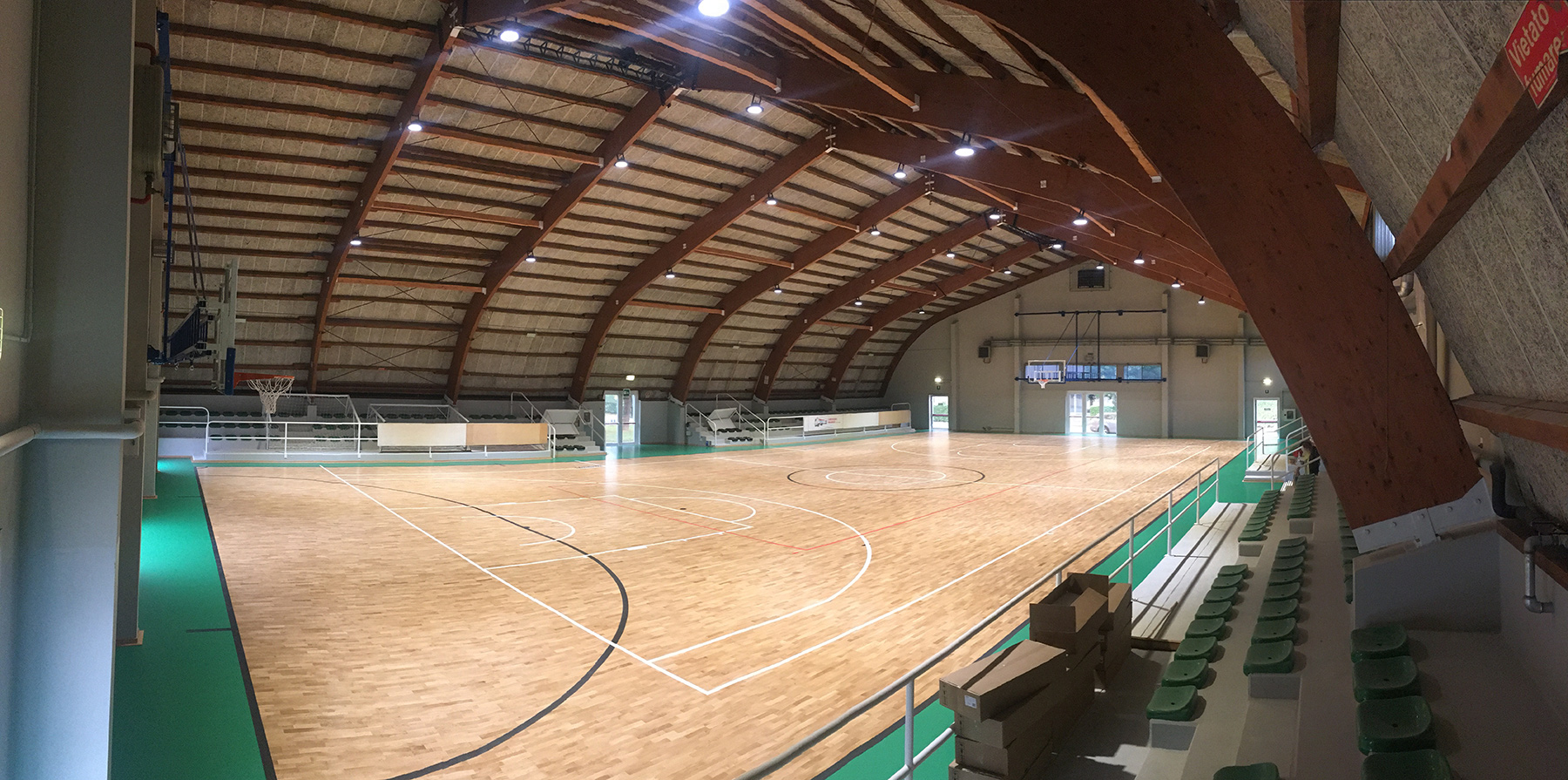The splendid sports parquet finished and ready to use